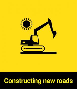Constructing new roads